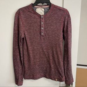 Banana Republic Men's Red Henley Sweatshirt - XS